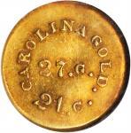 Undated (1842-1852) August Bechtler $1. K-24. Rarity-3. 27.G., 21.C. Plain Edge. MS-61 (NGC).