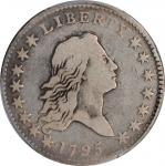 1795 Flowing Hair Half Dollar. O-110, T-21. Rarity-3. Two Leaves. Fine-12 (PCGS).