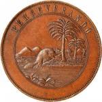 1775 Perseverando Dollar. HK-863a, DeLorey-Dickeson 4. Rarity-7. Copper. Thick Planchet. Mint State.