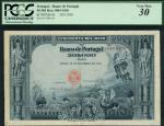 Banco de Portugal, 50 mil reis, 20 December 1910, red serial number 15988, CM, dark and pale blue, s