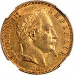 FRANCE. 50 Franc, 1866-BB. NGC AU-55.
