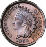 1864 Indian Cent. Bronze. MS-68 BN (NGC).