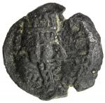 SASANIAN KINGDOM: Ardashir I, 224-241, AE 15mm (2.23g), G-type II/6, Sell-type II, SNS-73/100, first