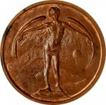 1910 Progress in Aviation Medal by the Chicago Numismatic Society. Copper. 51 mm. Malpas-186. MS-64