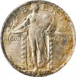 1917-S Standing Liberty Quarter. Type II. MS-65+ (PCGS).