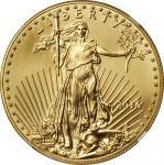 2016 One-Ounce Gold Eagle. First Releases. 30th Anniversary America Eagle Label. MS-70 (NGC).