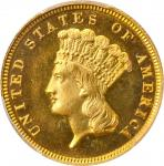 1884 Three-Dollar Gold Piece. JD-1, the only known dies. Rarity-4+. Proof-66 Deep Cameo (PCGS).