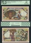Guadeloupe, Caisse Centrale de la France dOutre Mer, 1000 francs, specimen, no date (1960), serial n