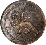 ITALY. Venice. Palmanova Fortress Copper Medal, 1593. Pasquale Cicogna. NGC AU-53 Brown.
