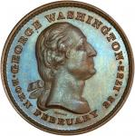 Circa 1860s Washington Tomb medal by Joseph Merriam. First obverse, First reverse. Musante GW-318, B