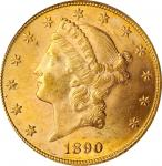 1890 Liberty Head Double Eagle. MS-62 (PCGS). CAC.