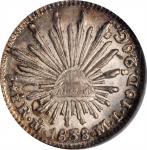 MEXICO. 1/2 Real, 1838-Mo ML. Mexico City Mint. NGC MS-65.