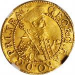 TRANSYLVANIA. Ducat, 1646-AI. Alba Lulia (Karlsburg) Mint. Georg I Rakoczi. NGC MS-61.