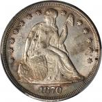 1870 Liberty Seated Silver Dollar. OC-6. Rarity-2. MS-61 (PCGS).