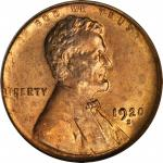 1920-S Lincoln Cent. MS-65 RD (PCGS). OGH.