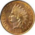 1877 Indian Cent. MS-65 RB (PCGS). CAC. Eagle Eye Photo Seal. OGH.