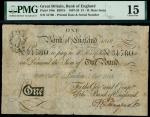 Bank of England, Henry Hase (1807-1829), 1, London, printed date 7 October 1818, serial number 31780