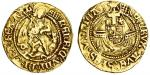 Henry VIII (1509-47), Half-Angel, first coinage, 2.53g, mm. crowned portcullis, henric viii di?gra?r