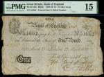 Bank of England, Henry Hase (1807-1829), 1, London, printed date 29 March 1810, serial number 51662,