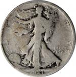 1921-D Walking Liberty Half Dollar. Good-4 (PCGS).