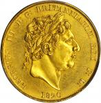 GREAT BRITAIN. Pattern 2 Pounds, 1820. George III (1760-1820). PCGS Genuine--Repaired, Proof. Unc De