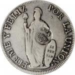PHILIPPINES. Philippines - Peru. 8 Reales, ND (1832-34). Ferdinand VII. PCGS VF-25; Countermark: EF