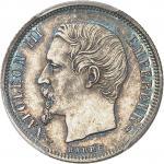 FRANCE Second Empire / Napoléon III (1852-1870). 50 centimes tête nue 1853, A, Paris.