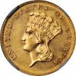1889 Three-Dollar Gold Piece. MS-62 (NGC).
