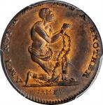 Great Britain--Middlesex. Undated (1790s) Am I Not a Man and a Brother Farthing Token. D&H-1104. Cop