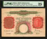 MALAYA. Board of Commissioners of Currency. 100 Dollars, 1942 (ND 1945). P-15. PMG Very Fine 25.