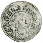 Kings of All England, Aethelstan (924-939), Penny, Portrait Type, London, Leofhelm, 1.55g, 12h, +菩EL