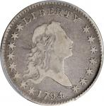1794 Flowing Hair Half Dollar. O-106, T-4. Rarity-6-. Fine-12 (PCGS). CAC.