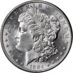 1884-S Morgan Silver Dollar. AU-58+ (PCGS). CAC.
