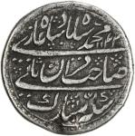 MUGHAL: Muhammad Shah, 1719-1748, AR nazarana rupee 4010。1g41, Shahjahanabad, AH1142 year 13, KM-B43