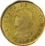 COLOMBIA. 8 Escudos, 1830-BOGOTA RS. Bogota Mint. PCGS MS-61 Gold Shield.