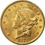 1871-S Liberty Head Double Eagle. MS-61 (PCGS).