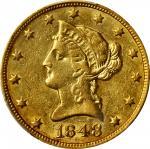 1848-O Liberty Head Eagle. AU-53 (PCGS).