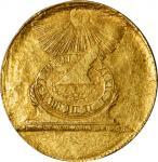 Undated (ca. 1940s) Fugio Copper Restrike Obverse Impression. Gold. Newman Obverse-102, Breen-1329.