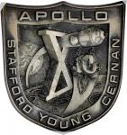 1969 Apollo 10 Flown Robbins Medal. Sterling Silver. No. 52 of 300 Flown, presented to Walter M. Sch