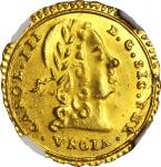 ITALY. Sicily. Oncia, 1734. Charles III (1720-34). NGC MS-66.