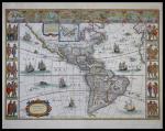 America nova Tabula. Willem Janszoom Blaeu. Amsterdam, ca. 1642. 21 ½ x 16