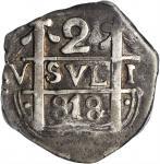 ARGENTINA. Mendoza. Imitation Cob 2 Reales, 818 (1823). PCGS VF-25 Gold Shield.