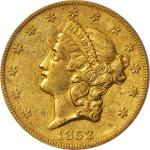 1852-O Liberty Head Double Eagle. EF-40 (PCGS).