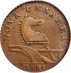 1786 New Jersey Copper. Maris 15-T, W-4825. Rarity-3. Leaning Head. EF-45 (PCGS).