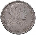 Italian coins;NAPOLI Carlo II (1674-1700) Ducato 1689 Bordo a treccia con riga in mezzo - Magliocca