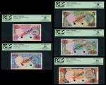 Central Bank of Kuwait, comprehensive set of Post Liberation Issue Specimen 1/4, 1/2, 1, 5, 10 Dinar