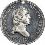 1848 National Monument medal. Musante GW-178, Baker-320. White Metal. MS-63 (PCGS).