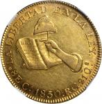 MEXICO. 8 Escudos, 1850/40-CaRG. NGC AU-55.