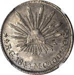 MEXICO. 4 Reales, 1844-Ga MC. Guadalajara Mint. NGC AU-58.