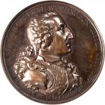 1805 Washington Eccleston Medal. Bronzed Copper. 76 mm. By Thomas Webb, for Daniel Eccleston. Musant